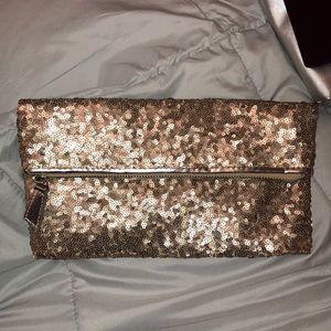 gold sparkly clutch purse